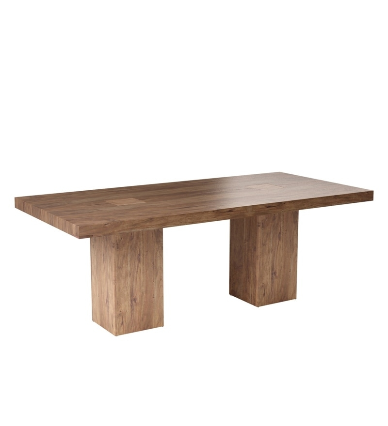 Buy Portland Solid Wood Six Seater Dining Table In Premium Acacia In Portland 78 Inch Dining Tables (Image 2 of 25)