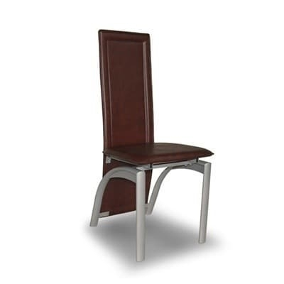 Buy Set Of 4 Brown Leather Dining Chairs – Brown In Chairs From Home Regarding Brown Leather Dining Chairs (Image 11 of 25)