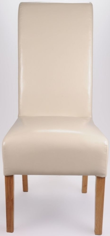 Buy Shankar Ivory Krista Bonded Leather Dining Chair (Pair) Online Inside Ivory Leather Dining Chairs (Image 6 of 25)