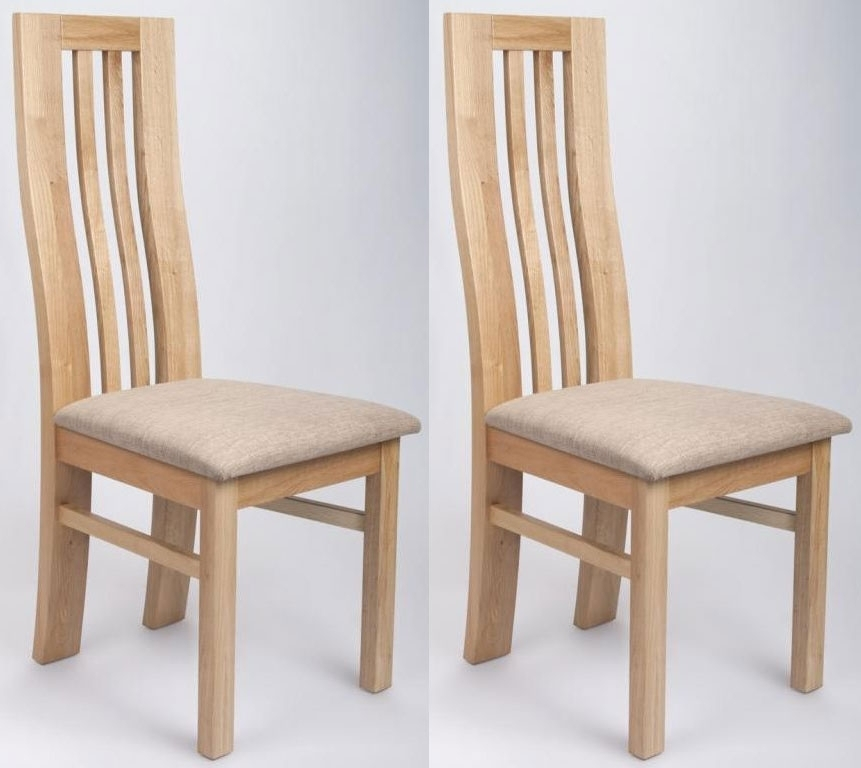 Buy Shankar Phoenix Oak Dining Chair (Pair) Online – Cfs Uk Regarding Oak Dining Chairs (View 1 of 25)