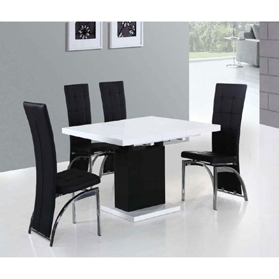 Buy Small Extendable Dining Table With Regard To Black Extendable Dining Tables And Chairs (View 22 of 25)