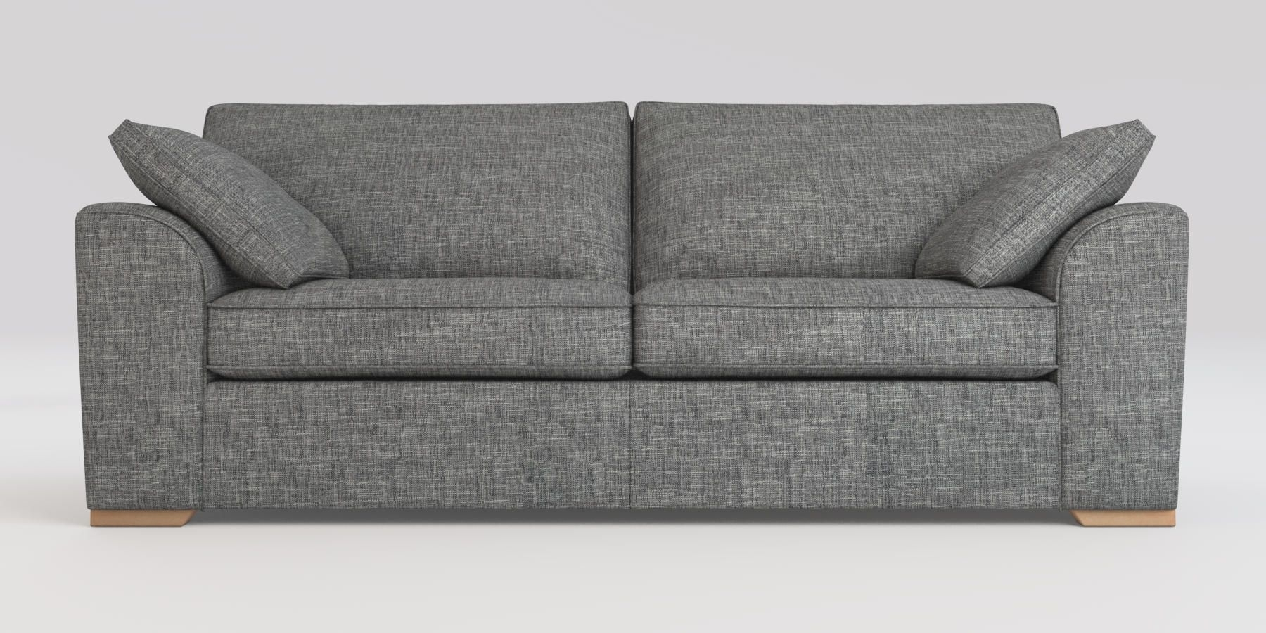 Buy Stamford With Storage Large Sofa (3 Seats) Boucle Weave Dark Regarding Declan 3 Piece Power Reclining Sectionals With Right Facing Console Loveseat (Image 6 of 25)