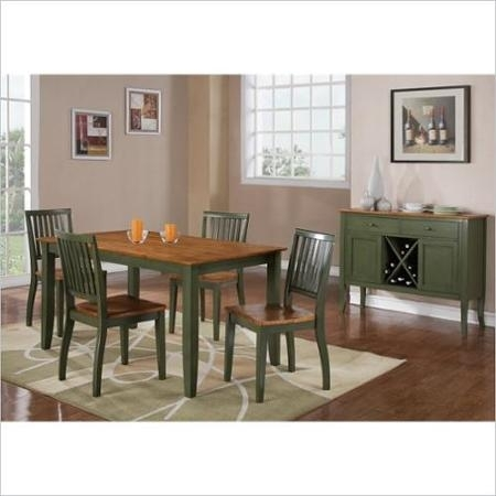 Buy Steve Silver Company Candice Round Dining Table In Oak And Green With Regard To Candice Ii Round Dining Tables (Image 5 of 25)