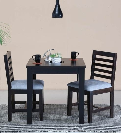 Buy Stigen Solid Wood Two Seater Dining Set In Warm Chestnut Finish With Regard To Two Seater Dining Tables And Chairs (Image 8 of 25)