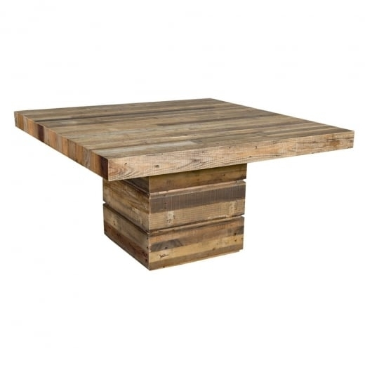 Buy Tahoe Square Dining Table | Chunky Rustic Plank Wood Tables Intended For Square Dining Tables (Image 2 of 25)