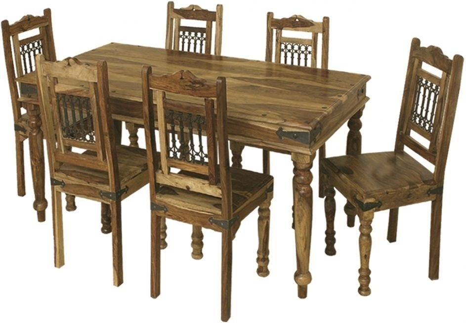 Buy Thacket Sheesham Dining Table – 6 Seater Online – Cfs Uk With 6 Seat Dining Tables And Chairs (View 21 of 25)