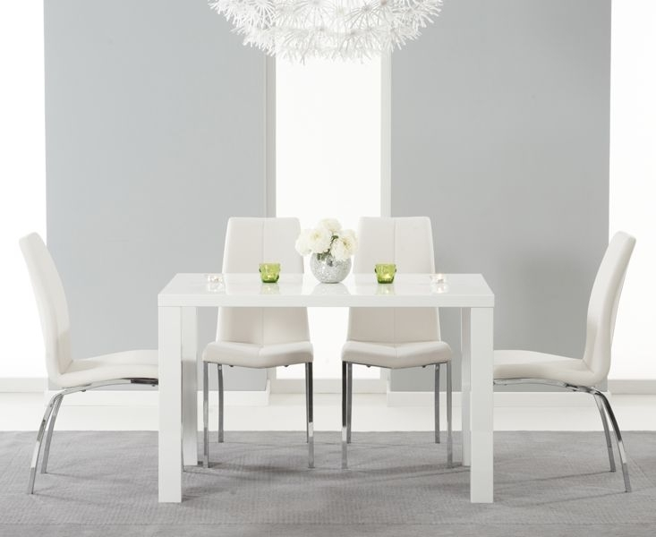 Buy The Atlanta 120Cm White High Gloss Dining Table With Cavello For White Gloss Dining Tables 120Cm (Image 10 of 25)