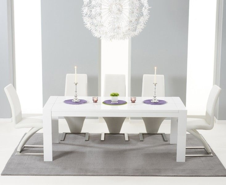 Buy The Venice 200Cm White High Gloss Extending Dining Table With For High Gloss White Extending Dining Tables (Image 6 of 25)