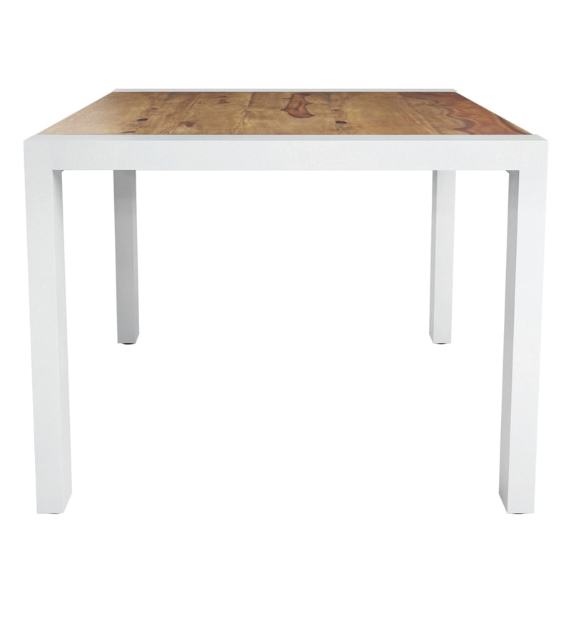 Buy Verona Solid Wood Six Seater Dining Table In Distress Finish Within Verona Dining Tables (View 25 of 25)