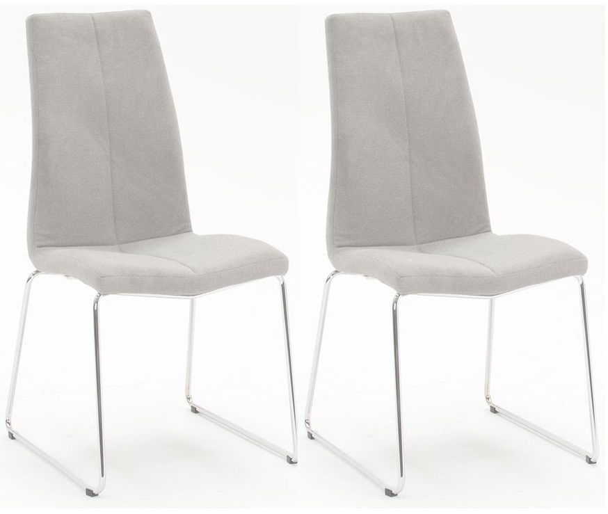 Buy Vida Living Evoque Grey Fabric Dining Chair (Pair) Online – Cfs Uk Inside Grey Dining Chairs (Image 4 of 25)