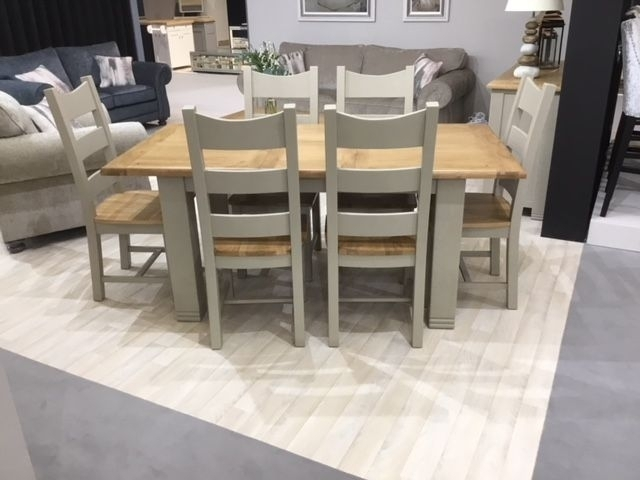 Buy Vida Living Logan Oak Rectangular Extending Dining Set With 6 Regarding Logan 6 Piece Dining Sets (Image 5 of 25)