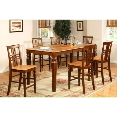 Buy Wade Logan Waverly 5 Piece Counter Height Dining Set For Logan 7 Piece Dining Sets (Image 5 of 25)