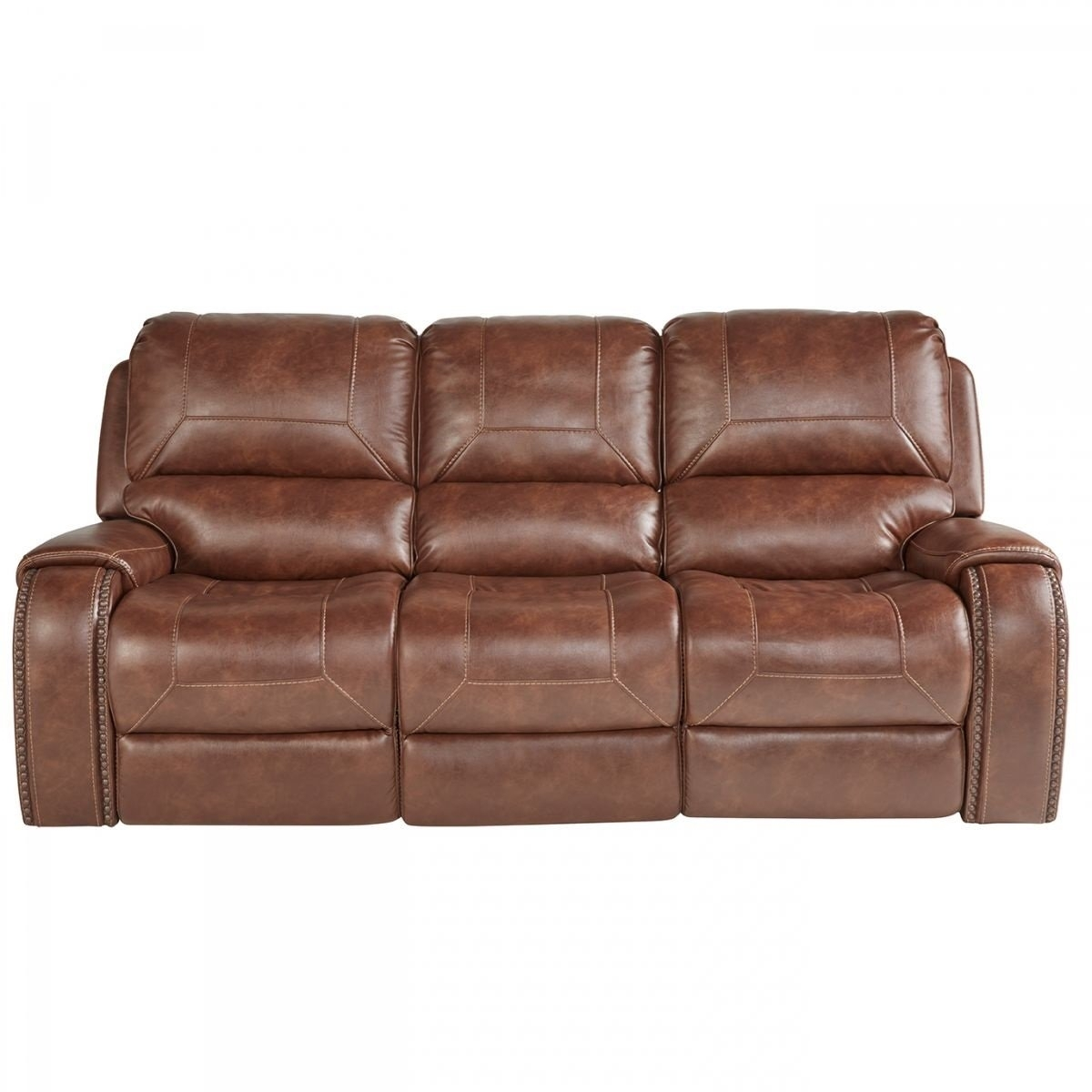 Buy Wescott Brown Reclining Sofa Online | Badcock & More Pertaining To Waylon 3 Piece Power Reclining Sectionals (Image 5 of 25)