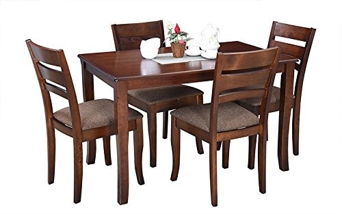 Buy Wholesale Royal Oak Victor Four Seater Dining Table Set (Walnut Regarding Victor Dining Tables (Image 3 of 25)