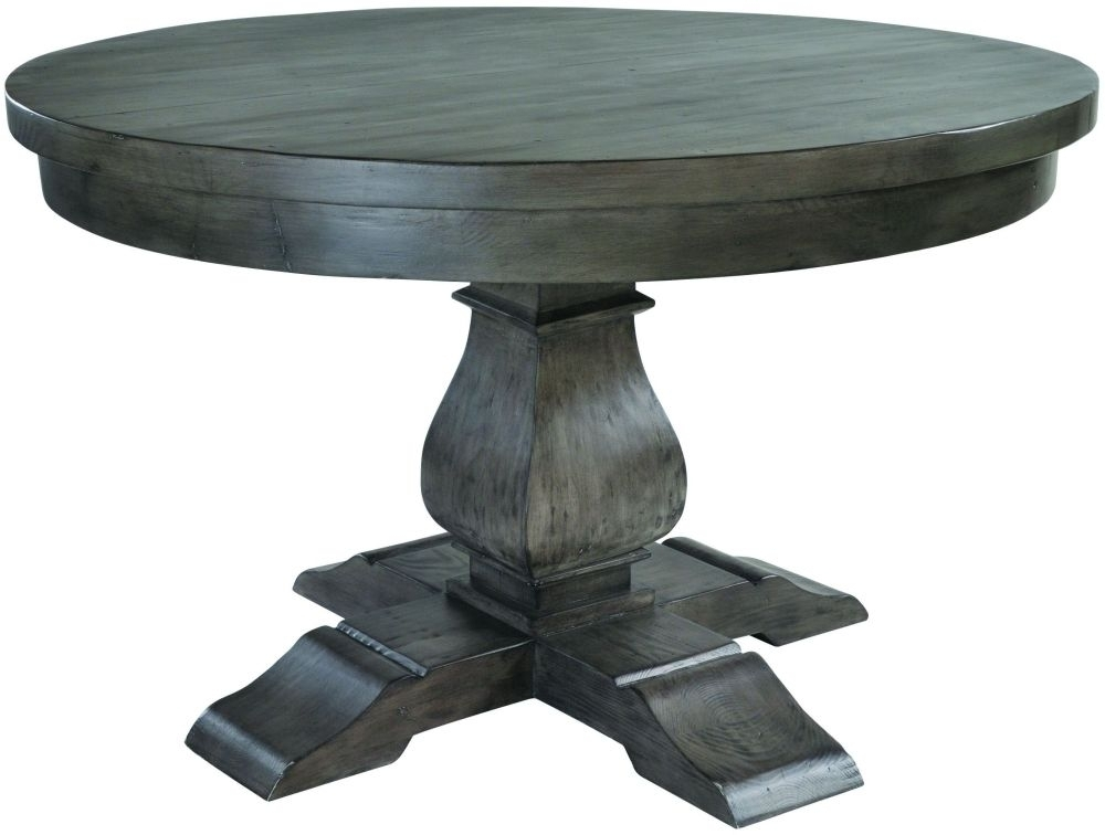 Buy Willow Dark Reclaimed Wood Round Dining Table – 130Cm Online Regarding Dark Round Dining Tables (Image 10 of 25)
