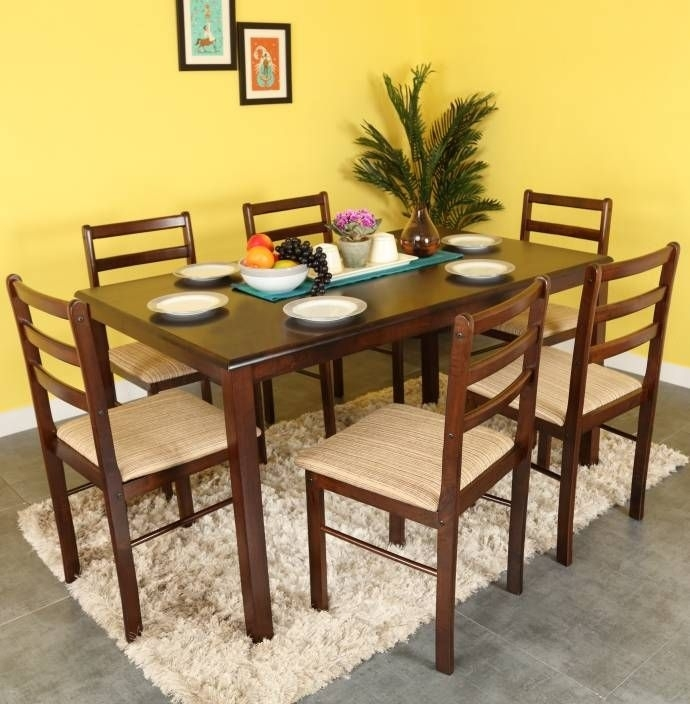 Buy Wooden Dining Sets Online In India (Image 5 of 25)