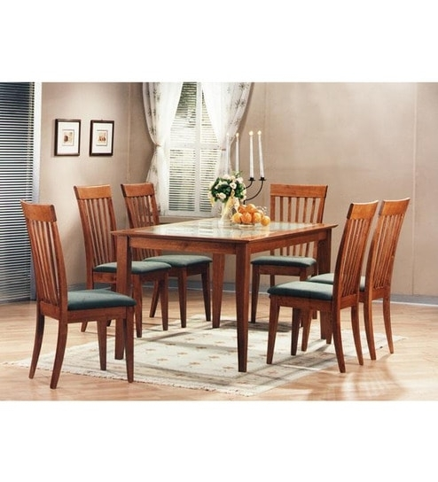 Buy Zuari Kingston Six Seater Dining Set With Glass Top Online – Six With Kingston Dining Tables And Chairs (View 17 of 25)