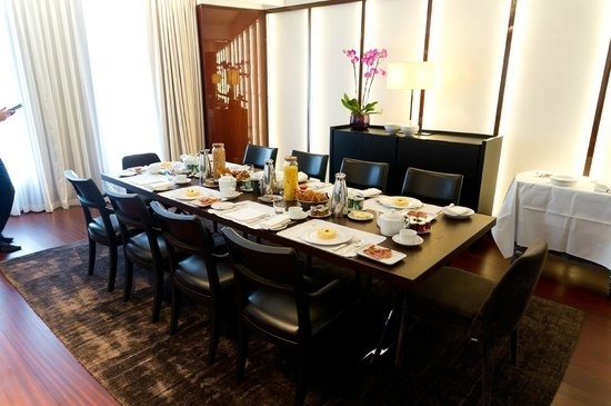 Bvlgari Suite (V) Dining Table Dressed For Breakfast – Picture Of With London Dining Tables (View 22 of 25)