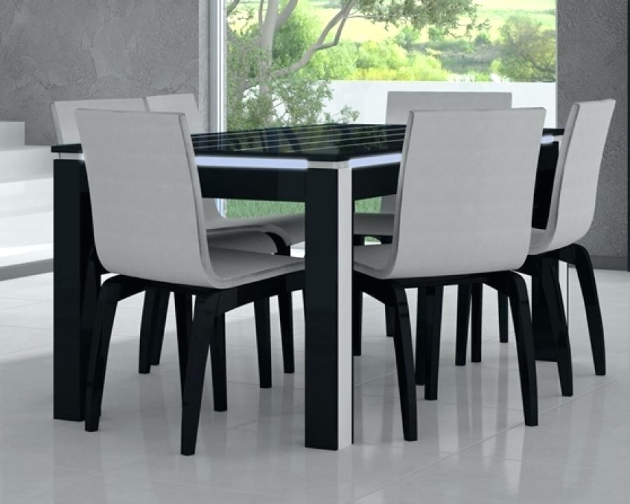 By Designs Black Gloss Dining Table 120Cm B – Christuck Pertaining To Black Gloss Dining Tables And Chairs (Image 4 of 25)