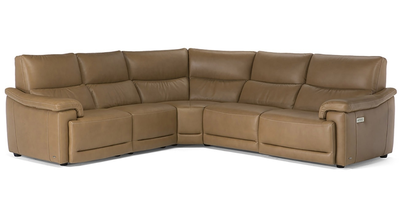 C070 Brama • Texas Leather Interiors Furniture And Accessories Inside Travis Dk Grey Leather 6 Piece Power Reclining Sectionals With Power Headrest & Usb (Image 5 of 25)