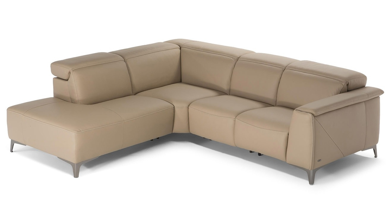 C074 Trionfo Leather Furniture Texas Leather • Natuzzi Editions Leather With Regard To Travis Dk Grey Leather 6 Piece Power Reclining Sectionals With Power Headrest & Usb (Image 7 of 25)