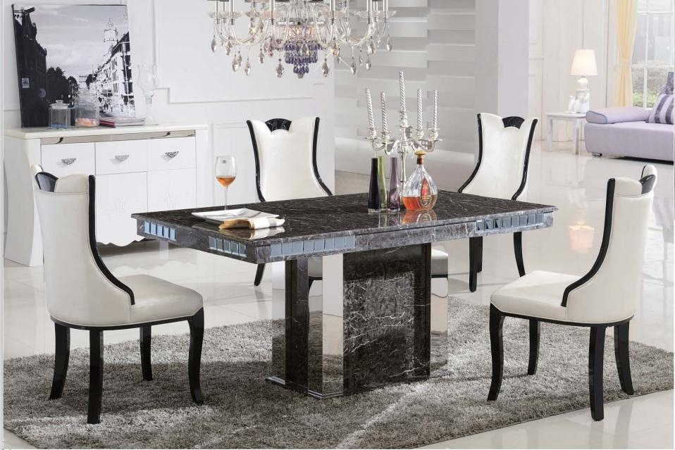 C3035 Luxury Marble Dining Table – Fortune Furniture Within Marble Dining Chairs (Image 6 of 25)