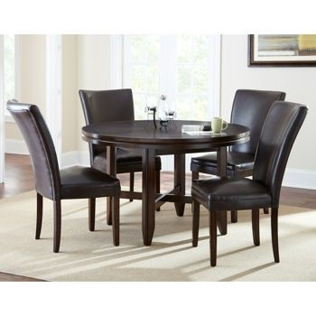 """Caden 5 Piece Dining Set With 52"""" Table 