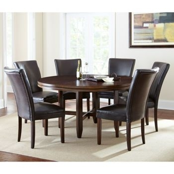 """Caden 7 Piece Dining Set With 62"""" Table. Costco (View 2 of 25)"""