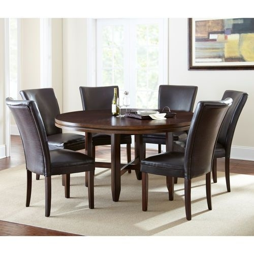 "Caden 7 Piece Dining Set With 62"" Table Valid 9/1/13 Through 9/30/13 With Caden 5 Piece Round Dining Sets (View 4 of 25)"