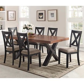 Calix 7 Piece Dining Set   Dining Room   Pinterest   Dining, Dining Intended For Craftsman 7 Piece Rectangle Extension Dining Sets With Uph Side Chairs (Image 5 of 25)