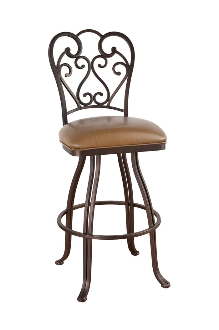 Callee Valencia Swivel Stool With Swirl Back Design – Free Shipping! Within Valencia 4 Piece Counter Sets With Bench & Counterstool (Image 6 of 25)