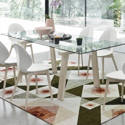 Calligaris Levante Extending Dining Table – Small – White Frame Within Small White Extending Dining Tables (Image 7 of 25)