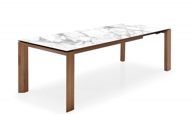 Calligaris – Marble White Extending Dining Table – Fishpools For Extending Marble Dining Tables (Image 6 of 25)