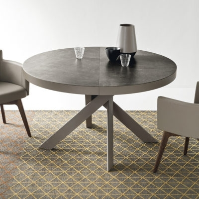 Calligaris Tivoli Round Extending Dining Table – Ceramic Top Inside Round Extending Dining Tables (Image 6 of 25)
