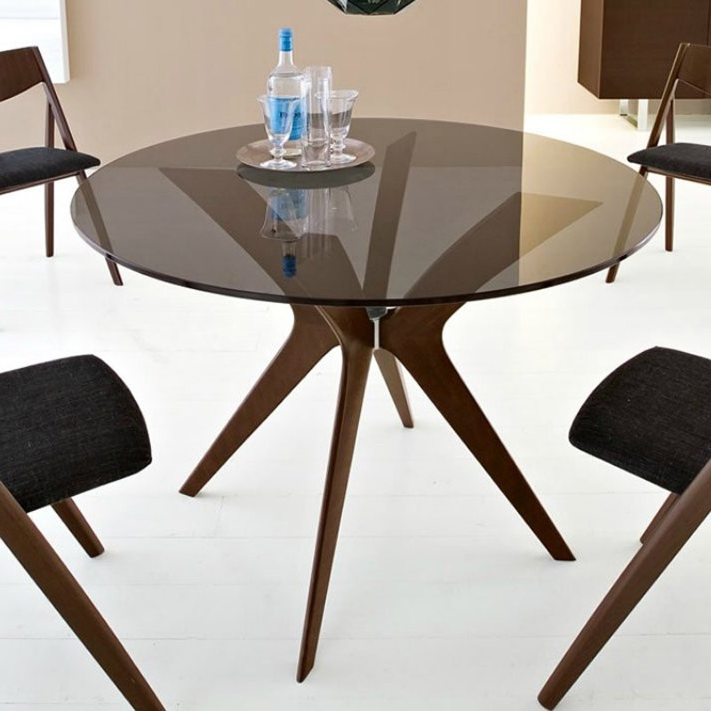Calligaris Tokyo Wood Round Table | Calligaris Furniture | Wood Inside Tokyo Dining Tables (Image 6 of 25)