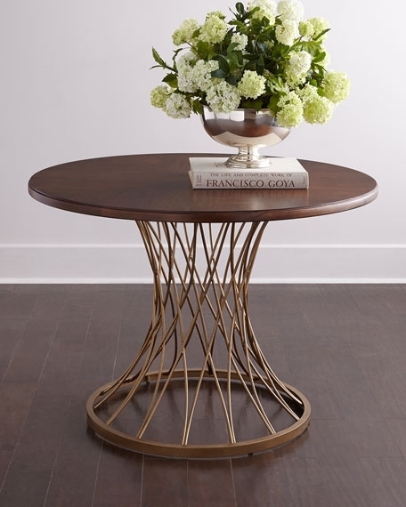 Candice Olson Vortex Round Entry Table In Candice Ii Round Dining Tables (Image 9 of 25)