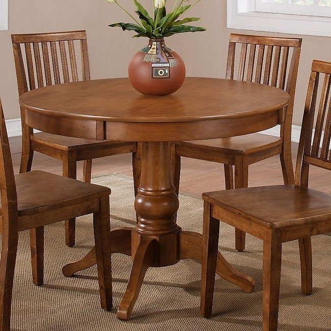 Candice Round Dining Table (Oak) Steve Silver Furniture | Furniture Cart Inside Candice Ii Round Dining Tables (Image 13 of 25)