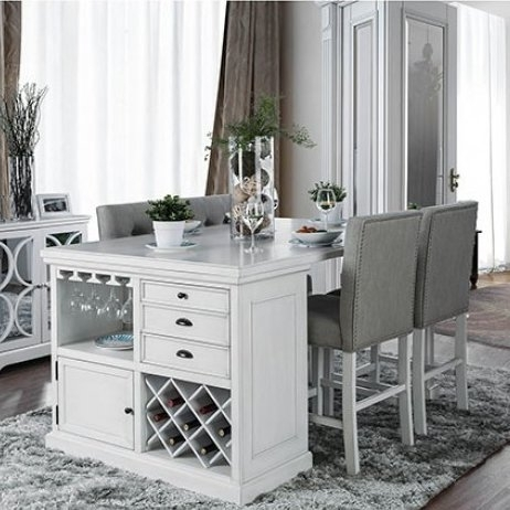 Canora Grey Melendez 5 Piece Dining Set | Wayfair Regarding Norwood 7 Piece Rectangular Extension Dining Sets With Bench & Uph Side Chairs (Image 5 of 25)