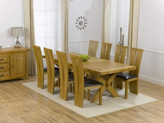 Canterbury Solid Oak Dining Table + 8 Arizona Dining Chair Dining Intended For Oak Dining Tables 8 Chairs (View 6 of 25)