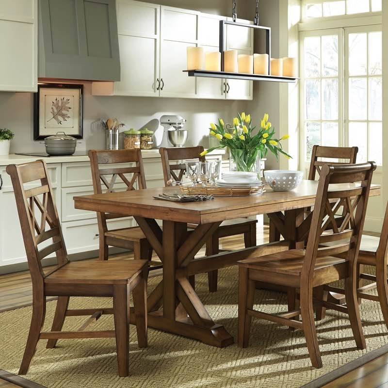 Canyon Dining Table And Double X Back Chair Set Free Shipping With Regard To Toscana Dining Tables (Image 4 of 25)