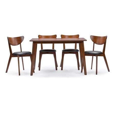 Care 4 Home Llc 5 Piece Wood Kitchen Dining Set, Rectangle Table And In Kirsten 5 Piece Dining Sets (View 10 of 25)
