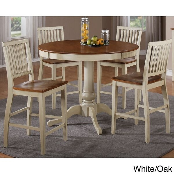 Carla Counter Height 5-Piece Dining Set - Overstock™ Shopping - Big with Candice Ii 5 Piece Round Dining Sets