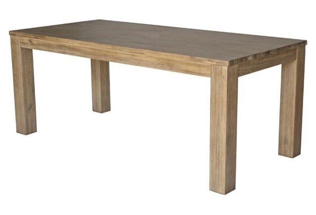 """Carly 75"""" Dining Table, Natural 