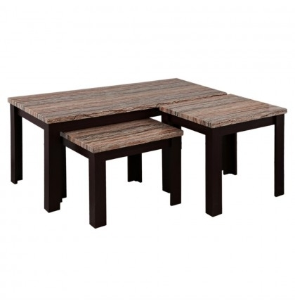 Carly Fabric Coffee End Table Set Of 3 Inside Carly Rectangle Dining Tables (View 13 of 25)