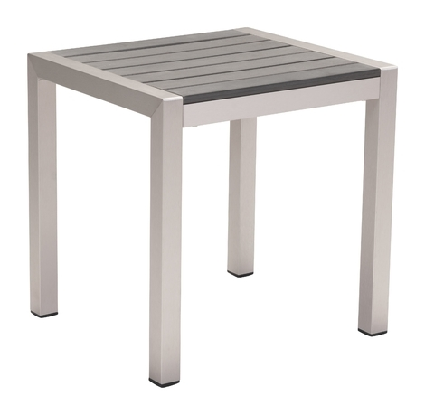 Carly Indoor/outdoor Side Table, Gray Throughout Carly Rectangle Dining Tables (Image 9 of 25)