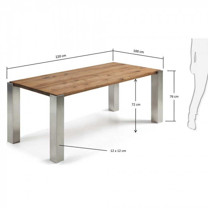 Carly Table 220X100 Cm – Kave Home In Carly Rectangle Dining Tables (Image 12 of 25)