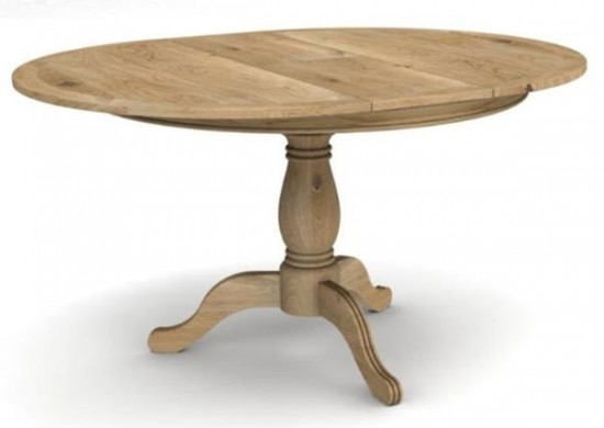 Carmen Round Extending Dining Table + 4 Chairs | Morale Home Furnishings For Round Oak Extendable Dining Tables And Chairs (Image 3 of 25)