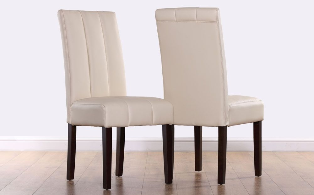 Featured Image of Ivory Leather Dining Chairs
