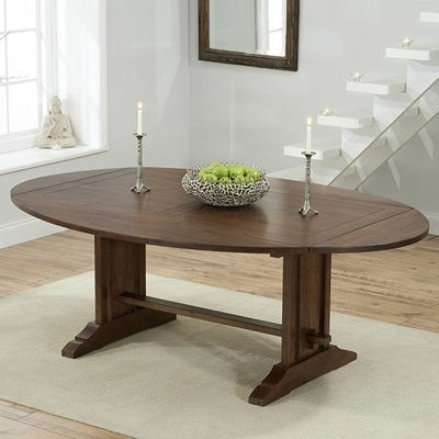 Carver Dark Oak Oval Extending Dining Table With 6 Monty Chairs Within Oval Extending Dining Tables And Chairs (View 17 of 25)