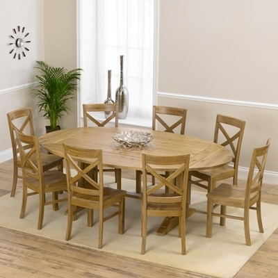 Carver Oak Oval Extending Dining Table With 8 Carver Chairs – Robson For Oak Extending Dining Tables And 8 Chairs (View 5 of 25)